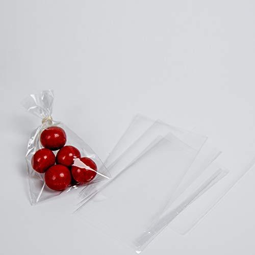Palucart , 6 x 10cm 200pz Sacchetti Bustine Sacchettini Plastica Trasparenti per Bomboniera Confetti Gioielli
