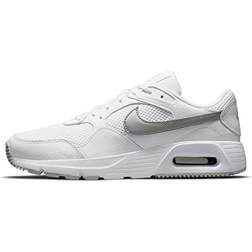 Nike Air Max Sc, Scarpe da Ginnastica Donna, White/Mtlc Platinum-Pure Plati, 41 EU