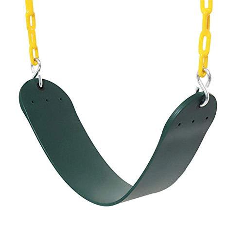 FENGLI Asientos de columpios al aire libre, kiddles Asiento de swing con cadena de acero, soporte 500 libras, juegos de juegos para niños Equipo de patio de juegos, cómodo diseño de asiento para niños
