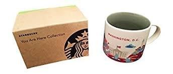 Starbucks Washington, D.C. You Are Here Collection Kaffeetasse, Keramik, ca. 400 ml, mit Geschenkbox