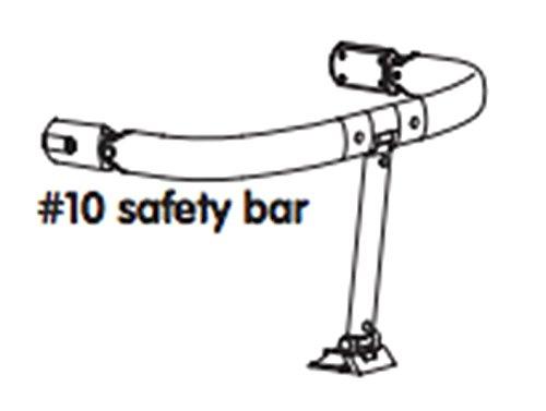 Pièce de rechange pour chaise haute Bloom Fresco Chrome–Arceau de sécurité Noir–# 10Safety Bar Black