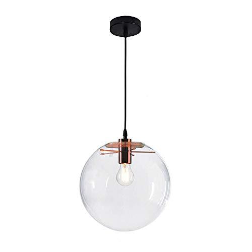 Wings of wind - Boule de verre moderne E27 Lustre Pendentif Lumière Transparent Goutte Lumière Suspension (Golden Hold) (30cm)