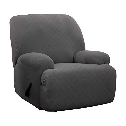 Stretch Sensations, Newport Jumbo Recliner Slipcover, Oversized Recliners, Perfect Chair Protection, Comfortable Easy Stretch Fabric (Grey)