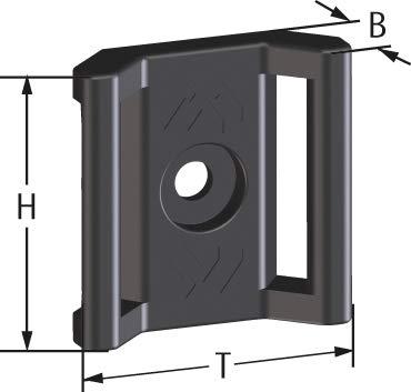apra norm Kabelhalter für Klettband, schraubbar (M4), 1 Set = 10 Stück