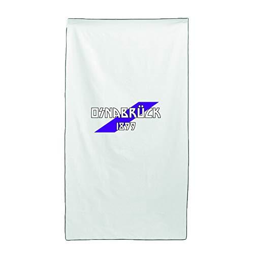 Tipolitografia Ghisleri Handtuch, Strandtuch Handtuch weiß Flagge OsnabrÜck 70 x 140 cm