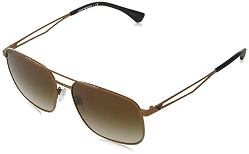 Emporio Armani Occhiali da sole EA2106 302013 occhiali Uomo colore Marrone lente marrone taglia 58 mm