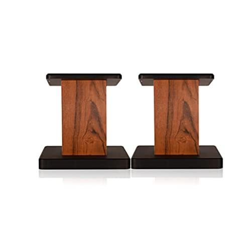 Soportes De Altavoz (par) Estantería De Suelo Envolvente Altavoz De Madera Profesional Audio Vertical For Sala De Estar (Color : Black, Size : 15cm)