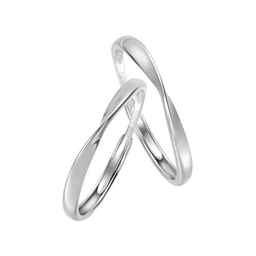 FANCIME プラチナ ペアリング Pt950 リング 2個セット 調節可能 婚約指輪 結婚指輪 2本ペア 永遠の輝き ギフトボックス付 ギフトラッピング済 誕生日 プレゼント