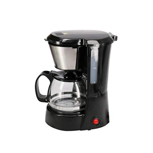 FBGood 650ML Klein Filterkaffeemaschine mit Glaskanne, Multifunktional Halbautomatisch Büro Haushalt Kochende Teekocher bis 10 Tassen, 650W Tropf Typ Kaffeemaschine mit Wasserstandsanzeige (Schwarz)