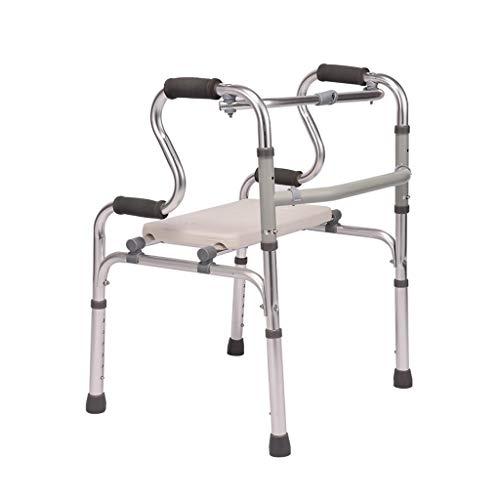 Walker Gehrahmen, Rollatoren Zubehör Faltbarer Dicken Aluminiumlegierung Für Ältere Behinderte (Color : Silver, Size : Basic Section)