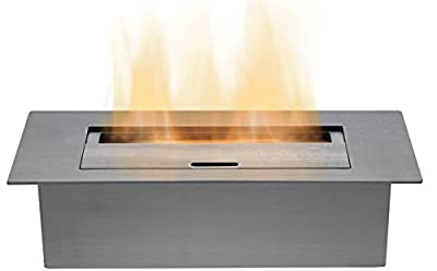 Adam Large Bio Ethanol Burner in Stainless Steel, 3 Litre Capacity