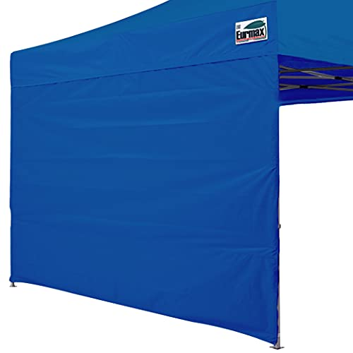 Eurmax Instant SunWall for 10x10 Gazebo Pop up Canopy, Canopy Walls 10x10,Outdoor Instant Canopies, Removable Zipper End, 1 Pack Sidewall Only (Blue)