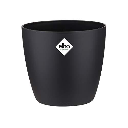 Elho Brussels Round Vaso, Nero, 30 CM