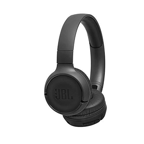 JBL Tune500BT - Auriculares supraaurales inalámbricos con conexiones multipunto y asistente de voz Google now o Siri, batería de 16 h, negro