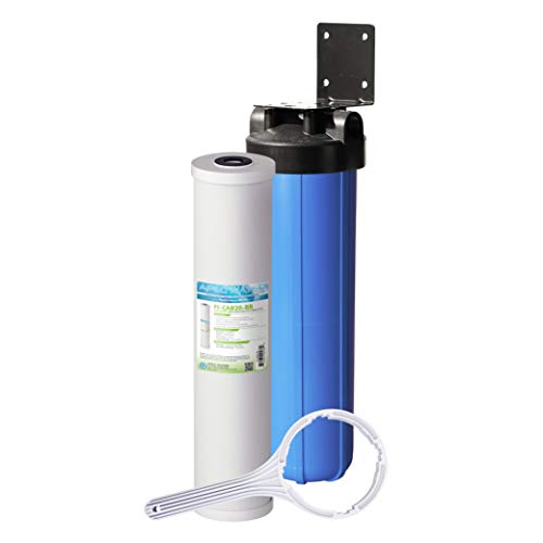 APEC Water Systems CB1-CAB20-BB APEC Whole House Carbon Water Filter with 20' Home Filtration System , Blue