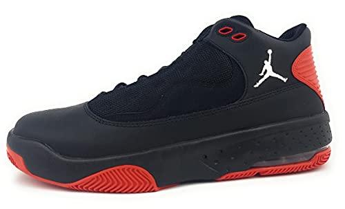 Nike Jordan Max Aura 2 - Zapatillas deportivas para hombre, negro y rojo, 43.5 EU
