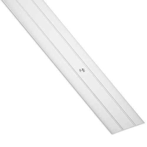 SOTECH 1 Stück Alu Übergangsprofil Cross flach Bodenprofil Tür Übergangsschiene Laminat, Parkett, Vinyl uvm. Breite 37 mm Türschwelle gelocht Aluminium Silber eloxiert Ausgleichsprofil 100 cm