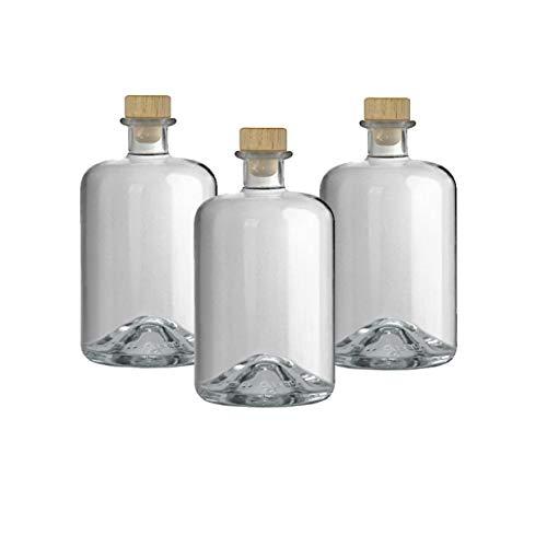 3 Apothekerflaschen 700 ml Glas Flaschen leer Essigflaschen Ölflaschen Schnapsflaschen Likörflaschen zum selbst befüllen VERSAND INNERHALB 24 STD!