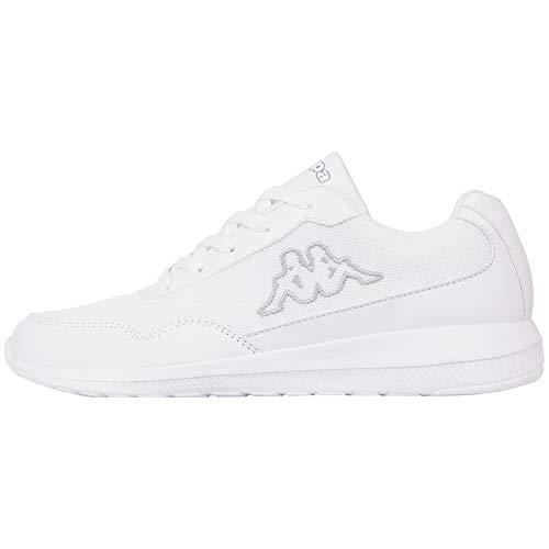 Kappa FOLLOW OC | Freizeit-Sneakers für Frauen und Männer | super-leicht, modisch und zeitlos | angenehmes Tragegefühl | atmungsaktiv, Größe 36 - 461016 white/grey, Größe 44