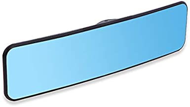 SkycropHD Anti Glare Rear View Mirror for Car, Clip on Wide Angle Rearview Mirror Eliminate Blind Spots – Convex, Blue