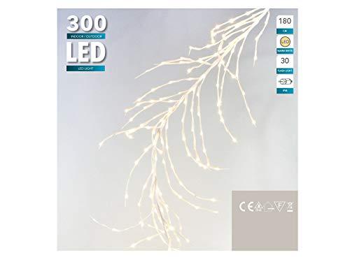 XXL LED Lichterzweig 180 cm - 300 LED warmweiß - Trauerweide Ast Weihnachtsdeko Außen