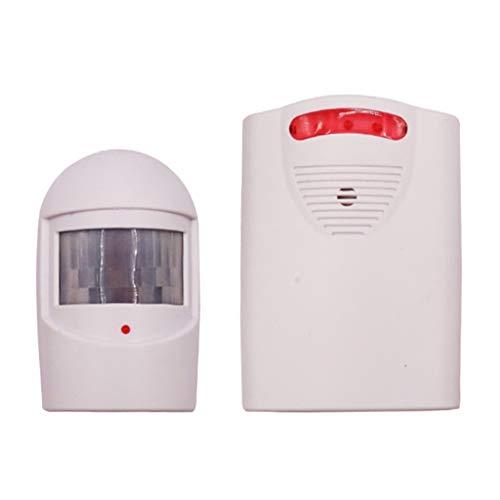 perfk Sistema de Alerta Del Sensor de Movimiento PIR Inalámbrico de La Alarma de La Entrada para La Seguridad Del Hogar