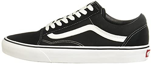 Vans Old Skool, Zapatillas Unisex Adulto, Negro (Black/White), 45
