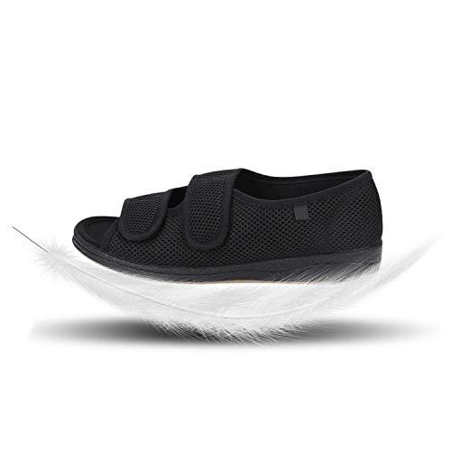 IBLUELOVER - Zapatillas para diálogos para mujer, para ancianos, patas hinchadas, zapatillas ajustables, cierre de sandalias de verano