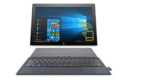 "HP Envy x2 12.3"" FHD IPS WLED-Backlit Touchscreen 2 in 1 Detachable Laptop, Qualcomm Snapdragon Processor, 4GB DDR4, 128GB SSD, 4G LTE, Webcam, Backlit Keyboard, Windows 10 S, HP Pen, Silver w/ Blue"