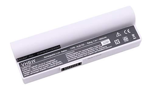 vhbw Batterie LI-ION 6600mAh 7.4V Blanc Compatible pour ASUS EEE PC 900a / 900HA / 900HD remplace AL22-703