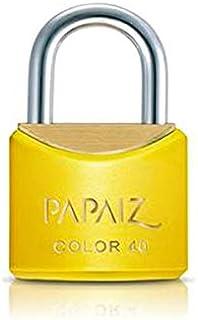 Cadeado Color Line, Papaiz, CR25, Amarelo