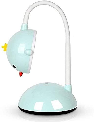 CMMT Lámpara de Mesa Lámpara de escritorio de dibujos animados 6W Luz de lectura con interruptor táctil Carga USB Lámpara de mesa de tres velocidades Temperatura de color Promesa de brillo Ajuste de 3