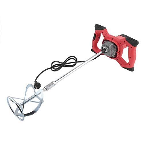 Binghotfire 2350W/1900W/1800W/1600W/1200W rührwerk mörtelrührer Betonmischer Handrührgerät Handrührwerk Rührgerät (1/2X Stange + Klinge) 120 mm (1200W-Rot)
