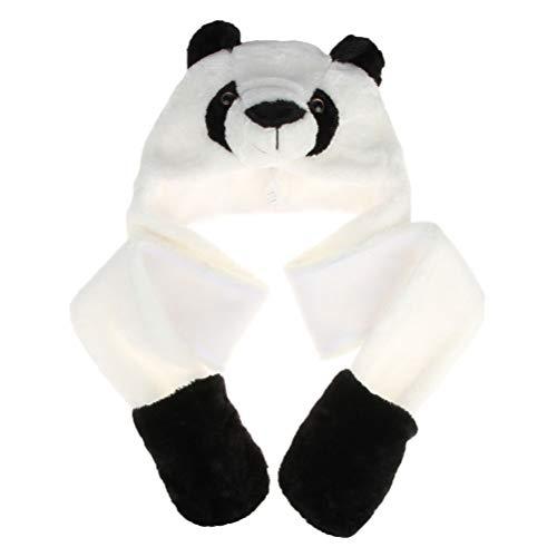 NUOBESTY Sombrero Bufanda Esponjoso Felpa Panda Animal Bicho Sombrero Gorra Disfraz Invierno...
