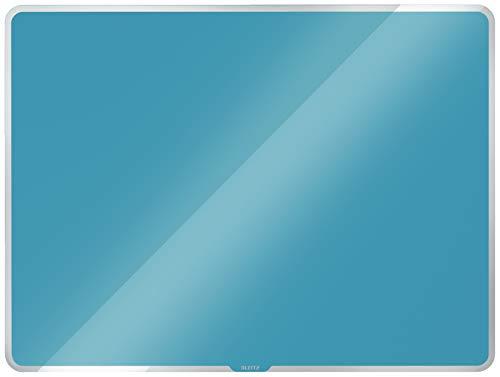 Leitz magnetisches Whiteboard aus Glas, 600 x 400, Sanftes Blau, Cosy-Serie, 70420061
