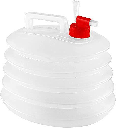 Sevendi Collapsible Water Container Camping Hiking Canteens Waterbottels Foldable Storage Jug Food Grade Carrier Outdoors Emergency BPA Free Transprent (5)