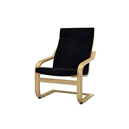 Soferia - IKEA POÄNG Funda para sillón, Eco Leather Black
