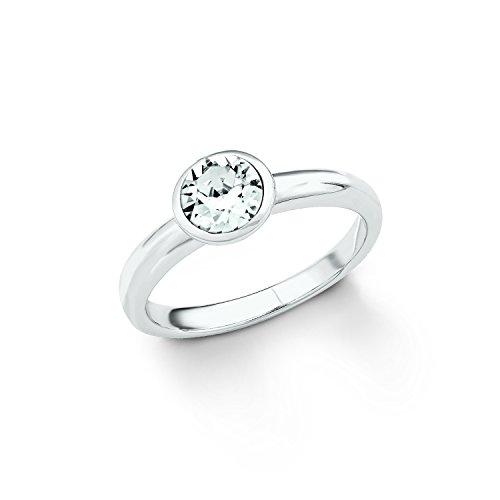 s.Oliver Ring für Damen mit Swarovski® Kristall aus 925er Sterling Silber