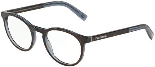 Dolce & Gabbana 0DG3309 Monturas de gafas, Top Havana On Transparente Blue, 52 para Hombre