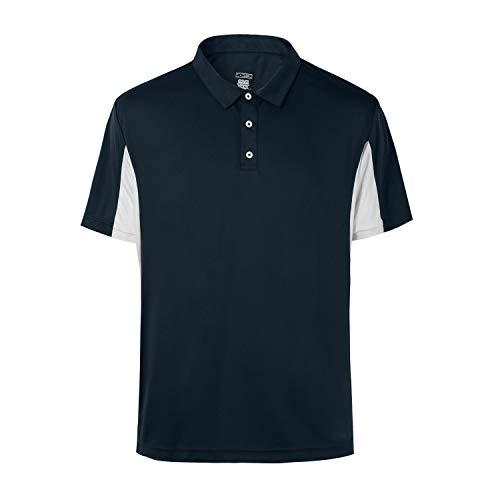 MOHEEN Men's Short Sleeve Moisture Wicking Performance Golf Polo Shirt, Side Blocked, Tall Sizes: M-7XL (#12139 Navy Blue, 5XL)