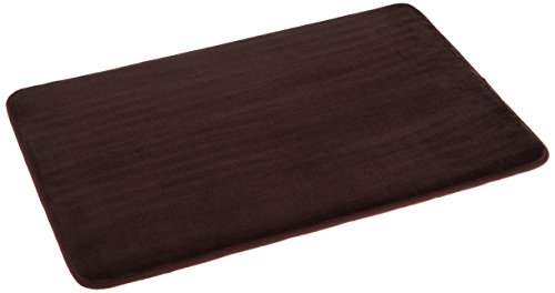 AmazonBasics Non-Slip Memory Foam Bath Mat - Pack of 4, 18 x 28 Inches, Dark Brown
