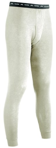 ColdPruf Men's Authentic Dual Layer Wool Plus Base Layer Bottom Oatmeal Small