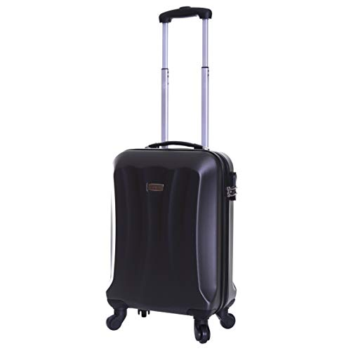 Slimbridge Hard Shell Cabin Carry-on Hand Luggage Suitcase Bag 55 cm 2.8 kg 35 litres with 4 Wheels and Number Lock, Lydde (55 cm, Graphite)