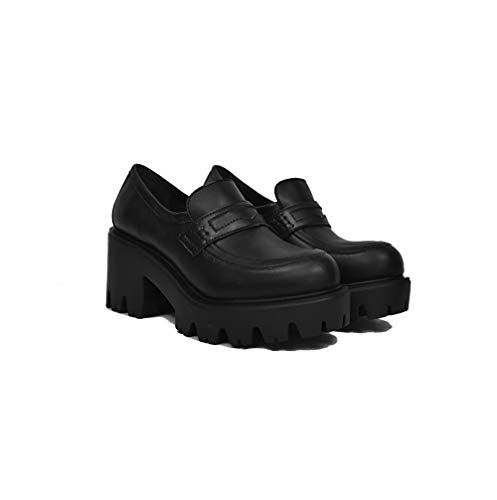 Altercore Chanka Zapatos Mujer Chunky Plataforma Negro Vegan