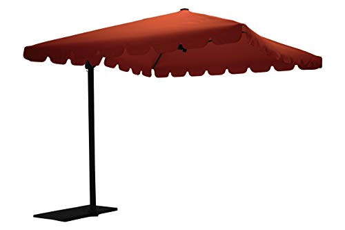 Maffei Art 87q Allegro, Parasol deporté carré cm 250x250, Tissu TexMa, Made in Italy. Couleur terrecuite