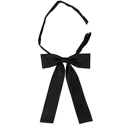 SYAYA - Pajarita para mujer, color sólido, ajustable, preatado, para mujer, corbatas, WLJ08 - Negro - talla única
