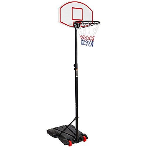 KKB Sport Sistema de aro de Baloncesto Ajustable, Soporte para niños, para Interior y Exterior, portería con Ruedas