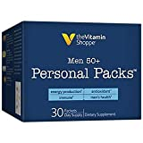 Men's 50+ Personal Multivitamin Packs, Supports Men's Health, Energy Production and Immune, (30 Single Serving Packets) by the Vitamin Shoppe