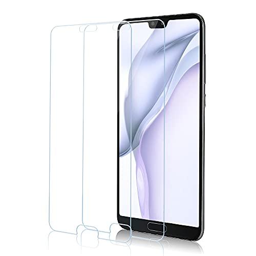 Schutzfolie Panzerglas für Huawei P20, [2er Pack] Panzerglasfolie für Huawei P20, 9H Härte, Anti-Scratch, Fall Freundlich Displayschutzfolie für Huawei P20