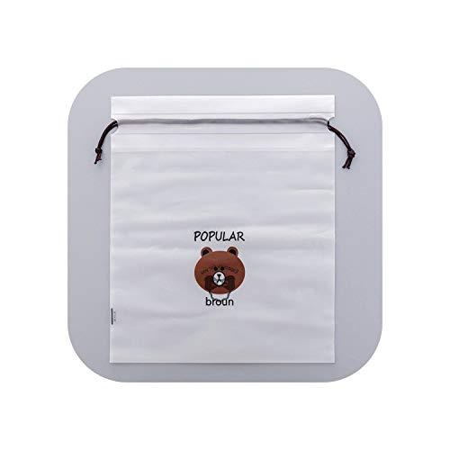 Blue Stor Borsa Porta Materasso in polietilene |Trasparente Animal Cat Cosmetic Bag Cut Makeup Case Drawstring Travel Handbag Organizer Storage Pouch Toiletry Women Wash Kit-bear-16x20CM
